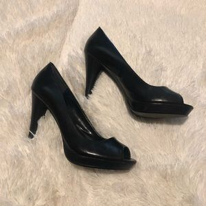 Style & Co. Black Peep Toe Heels
